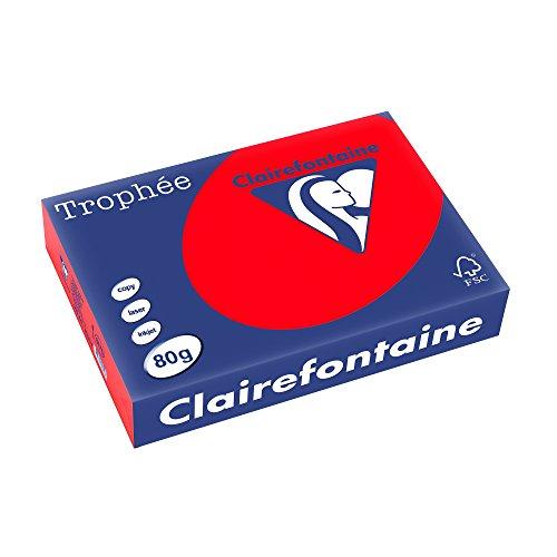 Preisvergleich Produktbild Clairefontaine Kopierpapier Tropheé Intensiv/8175C A4 korallenrot 80g/qm Inh.500