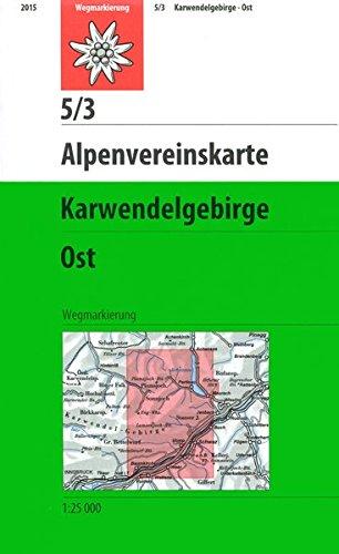 Karwendelgebirge - Östliches Blatt: Topographische Karte 1:25000 (Alpenvereinskarten)
