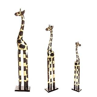 3 er Set 150cm 120cm 80cm Holz Holzgiraffen Familie Holzgiraffe Giraffe Afrika Stil GH