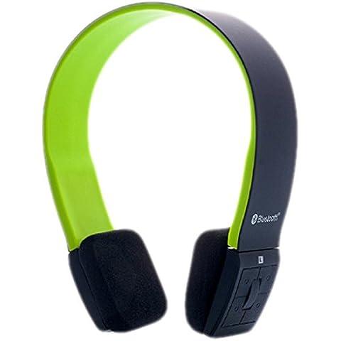 iTek Cuffie Stereo Bluetooth 4.0 con Microfono, Nero Verde