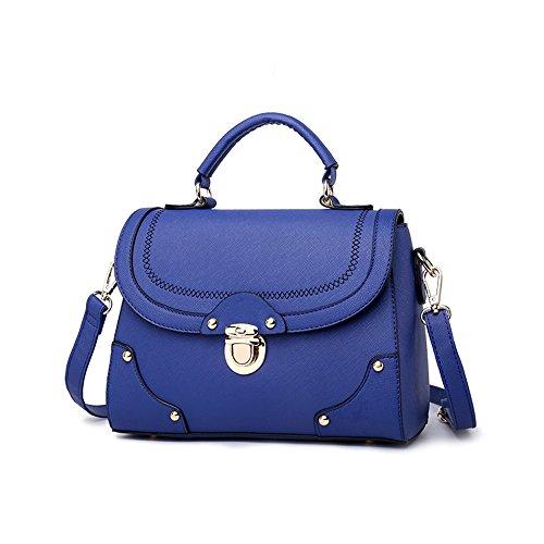 Pacchetto delle signore di modo, versione coreana dello zaino della marea, borse, borse estive, borsa a tracolla selvaggia semplice ( Colore : Blu zaffiro ) Blu zaffiro