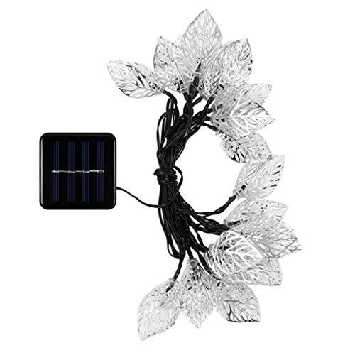 HOMZYY Solarlichterkette 20LED Lichterkette Garten Landschaft Urlaub Dekoration Energieeinsparung Warmweiß Weihnachtsbaum Hochzeit Licht 100ma Flexible Solar Panel