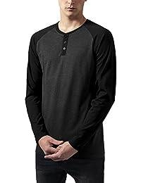 Urban Classics Contrast Raglan Henley L/S, T-Shirt Homme