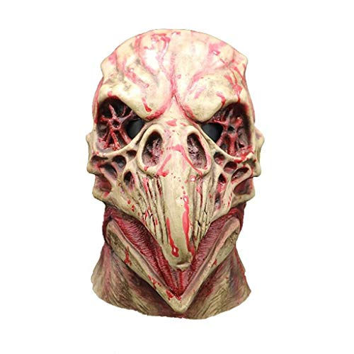 Funny Kostüm Ghost - Haunted House Birds Monster Grimassen Maske, Halloween Kostüm Horror Zombies Funny Scary Creepy Ghosts (Color : B)