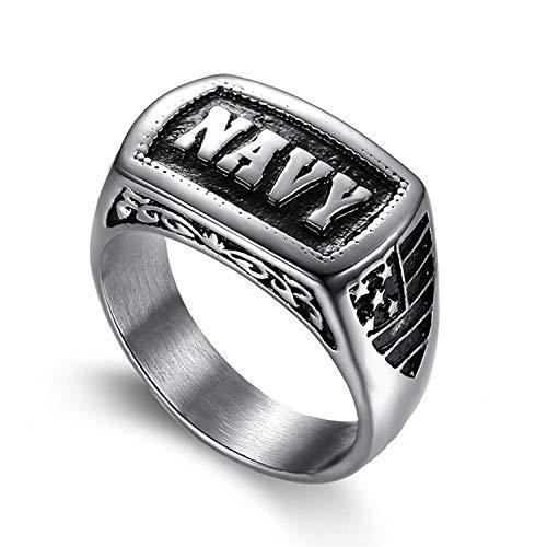 XMZBN Edelstahl Schmuck Herren Ringe US Marine Corps Marine Punkring - Herren-marine-ring