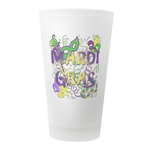 CafePress - Mardi Gras - Pint-Glas, 473 ml Trinkglas frosted