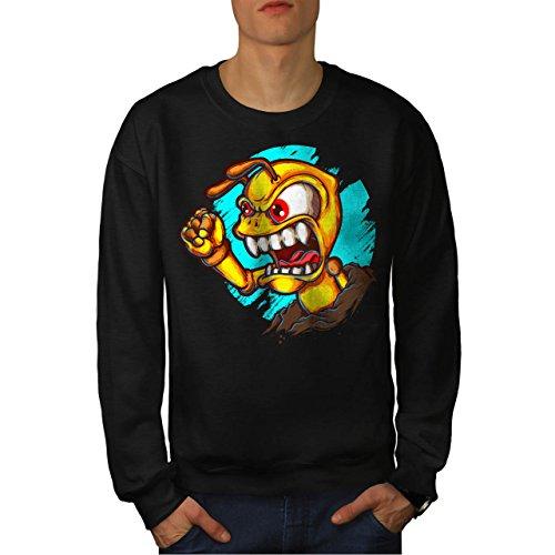 fourmi-en-colere-monstre-bizarre-homme-nouveau-noir-l-sweat-shirt-wellcoda