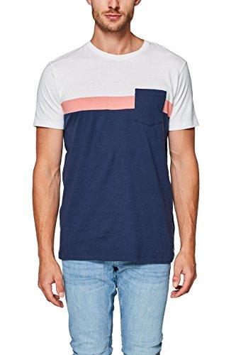 ESPRIT Herren T-Shirt 088EE2K013, Blau (Navy 400), Large Preisvergleich