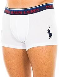 Polo Ralph Lauren Hombre Classic Stretch Cotton Logo Trunks, Negro