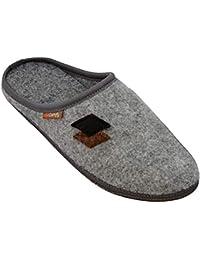 BeComfy Pantofole di Feltro Donna Uomo Suola Antiscivolo Unisex Ciabatte Scarpe  da Casa Leggere Comodo Grigio d90afcded1b