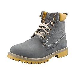 Woodland Men Gb 1276113 Grey-39 Nubuck Boots 5 UK