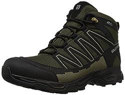 Salomon Mens Pathfinder Mid CSWP M Walking Shoe, Deep Depths/Black/Gothic Olive, 11.5 Medium US