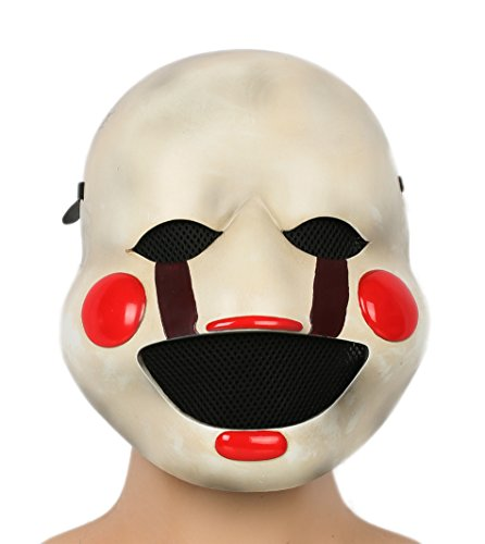 Halloween Mask The Puppet Helmet Deluxe Resin Marionette Mask for Adult Fancy Dress Clothing Accessories