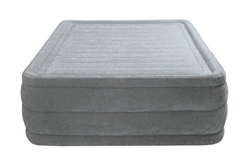 """Intex Kit 64418 Matelas Confort peluche High Rise de Matelas """"Queen"""", 230 V, avec pompe à air, 152 x 203 x 56 cm"""