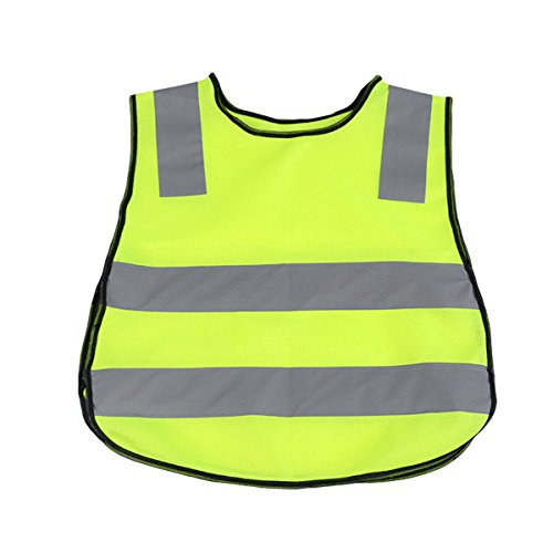 OULII Kindersicherheitsweste Reflektierende Warnweste für Kinder Outdoor Sport Nacht Schutz (Grün)