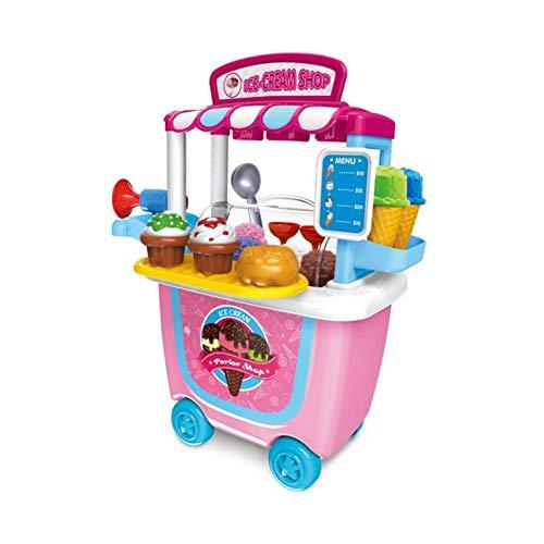 Spielhaus Kleinen Supermarkt Spielzeug Trolley Warenkorb Barrel Grill BBQ Trolley Geburtstag Weihnachtsgeschenk Werkzeugwagen Food Play Für Jungen Mädchen Kinder Aktivität Frühe Entwicklung Bildung -