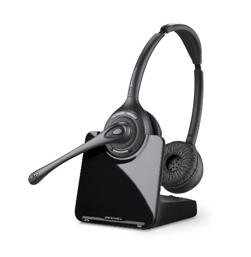 Plantronics CS520 Cuffia Binaurale dalla Fascia, per Telefono Wireless, Nero