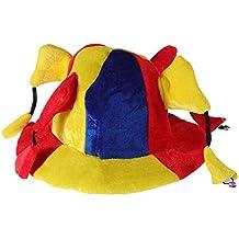 BESTOYARD Carnival Clown Hat Costume Adulto Niño Jester Hat Divertido  Rendimiento Props Multi-Angle Payaso 6ab8800d3de