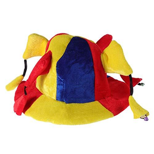 Erwachsene Jester Für Kostüm - BESTOYARD Karneval Clown Hut Kostüm Erwachsene Kid Jester Hut Lustige Leistung Requisiten Multi-Winkel Clown Hut