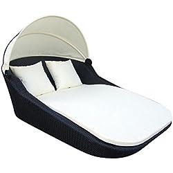 Baidani 10b00001.00001Double chaise longue Sunray Noir