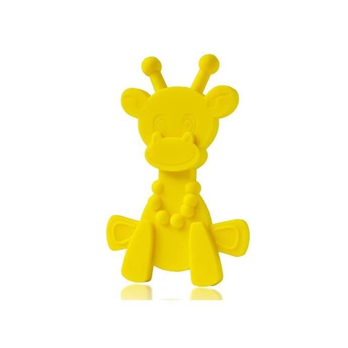 0a38052baa6 Baby Teething Toy Extraordinaire - Little bamBAM Giraffe Teether Toys by  Bambeado. Our BPA Free Teethers help take the stress out of Teething, from  ...