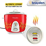 Brayden Rizo, 500 W Electric Rice Cooker with One-Step Automatic Cooking (Crimson Red, 1.5 Litre)