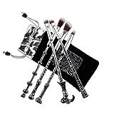 5 pcs Brosses cosmétiques Maquillage Poudlard Magic School Sceptre Collection cadeau (Argent)