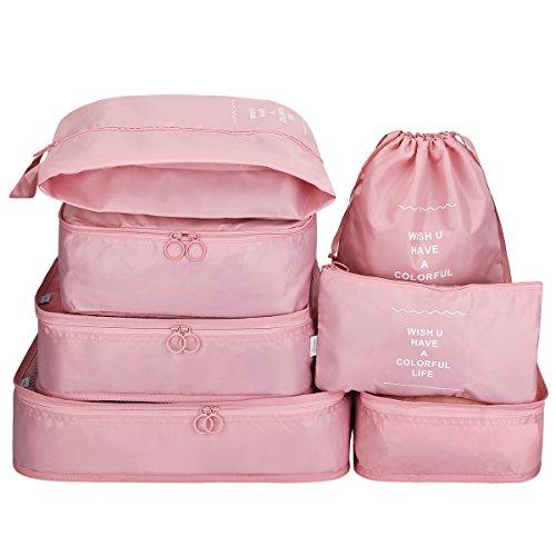 G4Free Kleidertaschen-Set Reisetasche in Koffer Wäschebeutel Schuhbeutel Kosmetik Aufbewahrungstasche