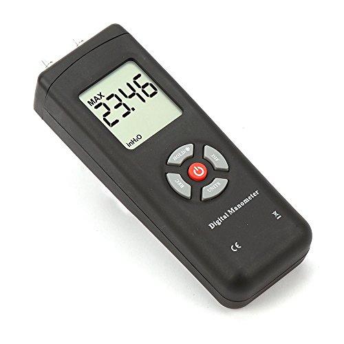 caiyuangg® Digital Manometer AIR Differential Druck Messgerät groß Akku schwarz