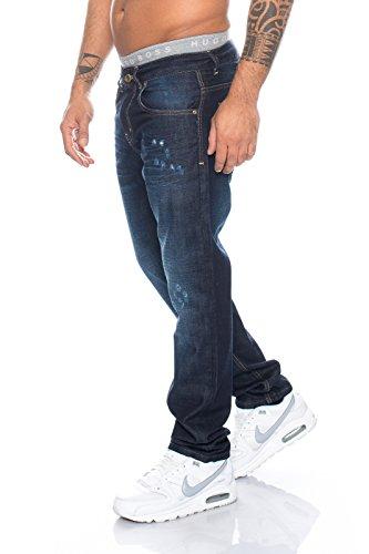 Rock Creek herren jeans hose straight-cut herrenhose blau LL-300 W29-W44 Blau