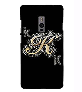 Fuson Designer Back Case Cover for OnePlus 2 :: OnePlus Two :: One Plus 2 (A Diamond Alphabet K Theme)