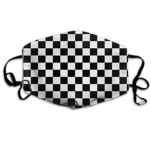 Face Masks with Design, Dust & Allergy Mask - Race Waving Checkered Flag - Kids Kawaii Dental Surgical Medical Disposable Earloop Face Masks (Breathable & Latex Free) - Flag-peeling