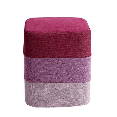 Zbyy pouf soft sgabello poggiapiedi in lino divano in tessuto piccolo moderno con rivestimento lavabile e schiuma 11,4x13,7 pollici