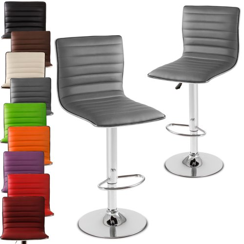 Miadomodo Barhocker Barstuhl Barsessel mit Fußablage, drehbar und höhenverstellbar mit Set- und Farbwahl
