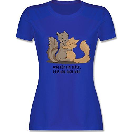 Sonstige Tiere - Beste Freunde - XXL - Royalblau - L191 - Damen T-Shirt Rundhals (Beste Gelben Freundin T-shirt)