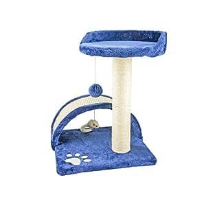 arbre chat avec griffoir niche et jouet pour chat 50 cm bleu cuisine maison. Black Bedroom Furniture Sets. Home Design Ideas