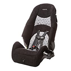 Cosco - Highback 2-in-1 Booster Car Seat - 5-Point Harness or Belt-positioning - Machine Washable Fabric, Windmill