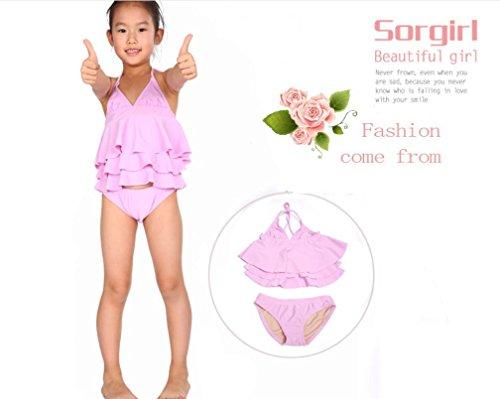 AMYMGLL Kinder Badeanzug Kinder dritten Anzug Anzug Farbe europäischen und amerikanischen Stil Bikini kann Großhandel light powder