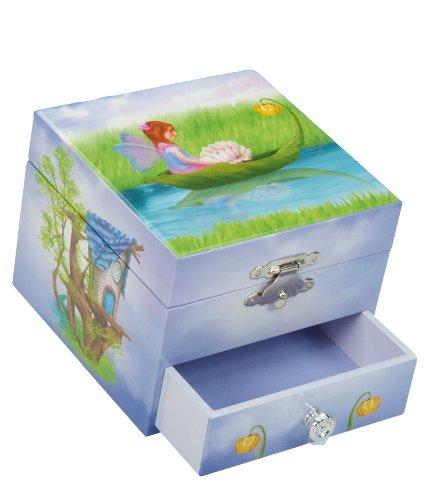 Musicboxworld Spieluhrenwelt Kinder-Schmuckdose mit Schublade Spielt die Melodie Au Claire De La Lune 22108