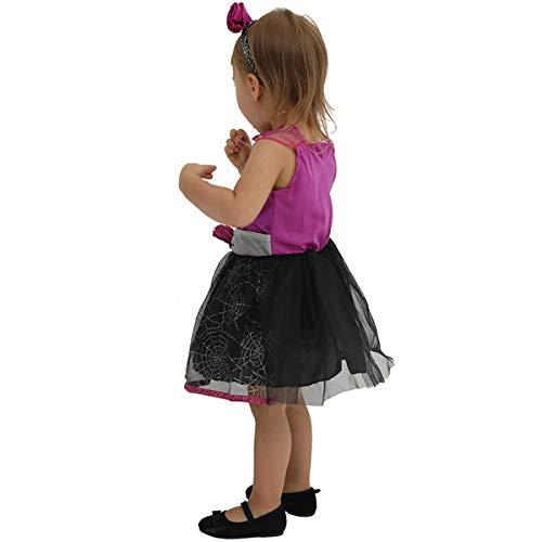 GXYCP Halloween Baby Girl Kostüm Spider Kleinkind Rollenspiel Christmas Prom Kleid,M (Kostüm Spider Girl Kleinkind)