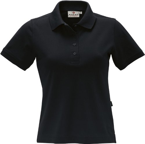 HAKRO Damen Polo-Shirt Performance - 216 - schwarz - Größe: M -