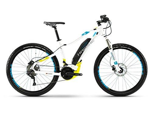 Haibike SDURO HardLife 3.5 E-Bike 500Wh E-Mountainbike weiß/lime/blau / RH 47 cm / 27,5 Zoll