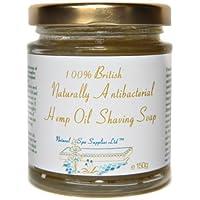 Preisvergleich für 150g Naß Rasierseife. Britisches Hanf Öl Traditionell Seife. Alle Hauttypen. Gegen Rasieren Ausschlag und Eingewachsener...