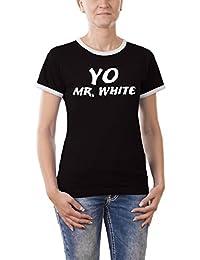 Touchlines Yo Mr. White Girlie Ringer / Contrast Women's T-Shirt
