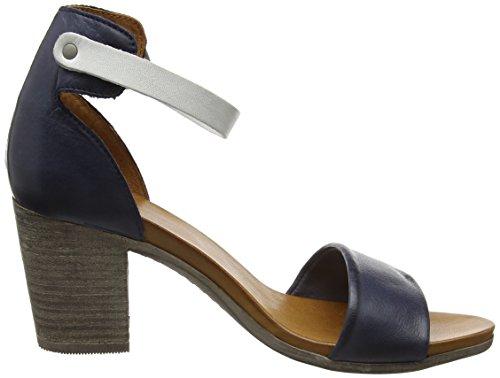 Moda in Pelle Loella, Sandales  Bout ouvert femme Bleu Marine