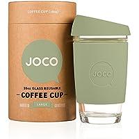 JOCO 16oz Glass Reusable Coffee Cup (Army Green) by JOCO