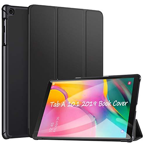 ZtotopCase Coque pour Samsung Galaxy Tab A 10.1 2019,Smart Case Cover Housse Etui de Protection Ultra Fin avec Support pour Samsung Galaxy Tab A 10,1 Pouce 2019 SM-T510/T515,Noir