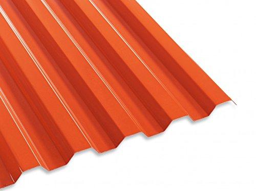 PC Lichtwellplatte Profilplatte rot Trapez 76/18 B1265 x L2000 mm