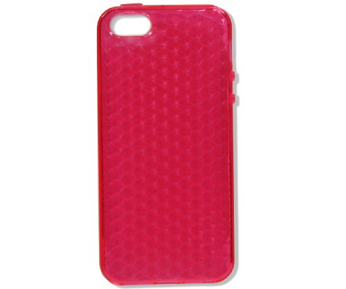 Neues Modell - Silikon Hülle Schutzhülle Rückschale Diamant-Case Cover für Apple iPhone 5 / 5G - Grün Diamant - Rosa