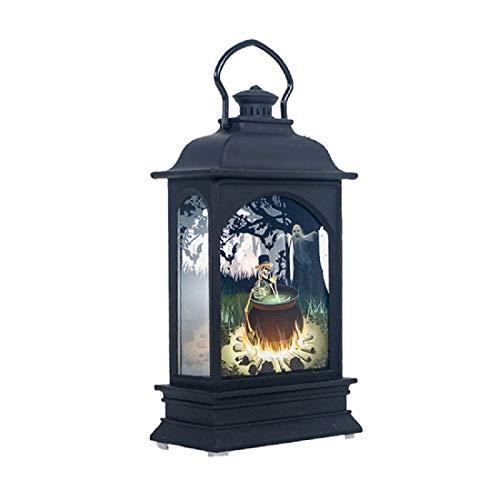 DDELLK Halloween Verzierungs kleine Öllampe kleine Windlampe, Hängendes Dekor, Retro Laterne Hängelampen im Freien, Zuhause/Parteien/Garten/Atmosphärenbeleuchtung -
